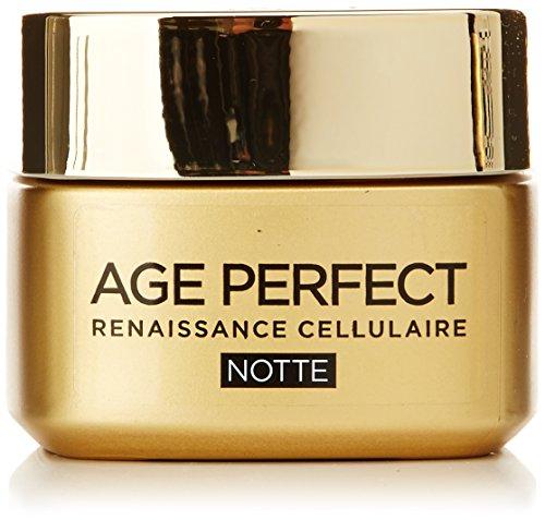 L'Oréal Paris Age Perfect Renaissance Cellulaire Crema Viso Ricostituente Notte, 50 ml