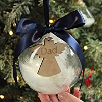 Personalised Remembrance Angel Christmas Decoration Bauble