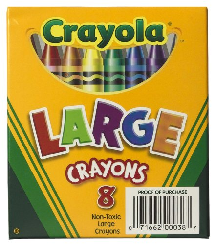 Crayola 8ct Large Crayons Lift Lid Box by Crayola (Toy Lift Box)