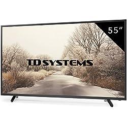 Televisores Led 55 Pulgadas Full HD TD Systems K55DLT6F. Resolución Full HD, 3x HDMI, VGA, 2x USB Reproductor y Grabador, Tv Led TDT HD DVB-T2