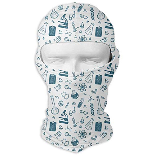 Wfispiy Neck Hood Full Face Mask Hat Sunscreen Breathable Quick Drying Hand Drawn Chemistry Science Men Women
