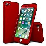 CASYLT® iPhone 7 Hülle 360 Grad Fullbody Case [inkl. 2X Panzerglas] Premium Komplettschutz Handyhülle Rot