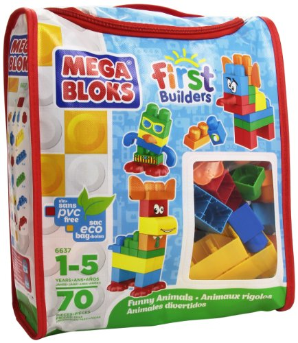 Mega bloks 06637u - first builders sacca animali divertenti
