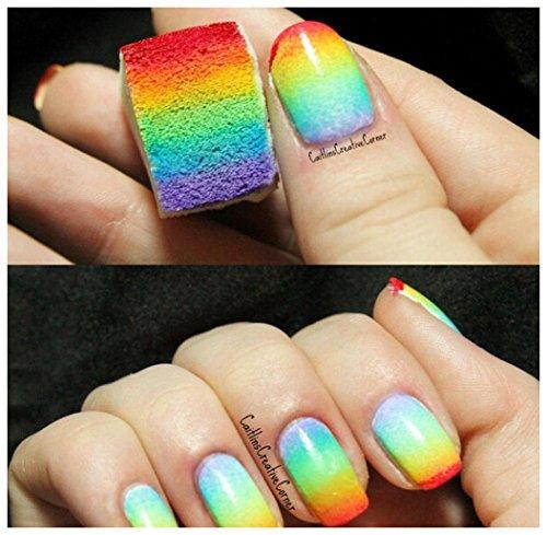 Culater 8 Stücke weiß Nagelkunst Schwämme Farblack Manicure DIY Werkzeug