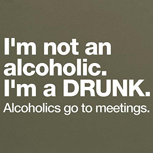 Not An Alcoholic T-Shirt, Herren Olivgrn
