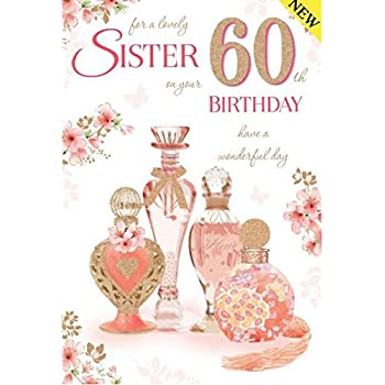My Big Sister 60th Happy Birthday Gift Set - Card, Keyring ...