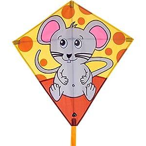 Invento 100121-Eddy Mouse niños Dragón einleiner, a partir de 5años, 68x 68cm y 2m Dragón Cola Ripstop de poliéster 2-5Beaufort