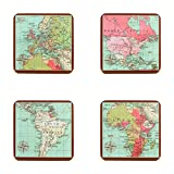World Traveller Tisch Untersetzer 4& inspirierende Magnet