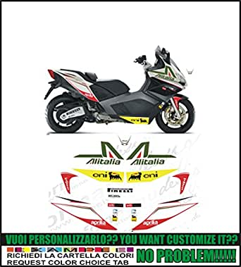 Kit adesivi decal stickers APRILIA SRV 850 ALITALIA (ability to customize the colors)