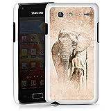 Samsung Galaxy S Advance i9070 Housse Étui Protection Coque Éléphant Femme Femme
