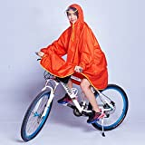 QFF Reiten Regenmantel Männlich Fahrrad Transparent Big Hat Weibliche Student Adult Poncho
