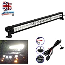 Lote de 60LED luz para barra de camión 180W de alta potencia LED Flood Spot Combo haz todoterreno exterior lámparas de techo, para coche Jeep GMC Tractor 4x 44WD SUV AWD (Ith Juego de cables de control)