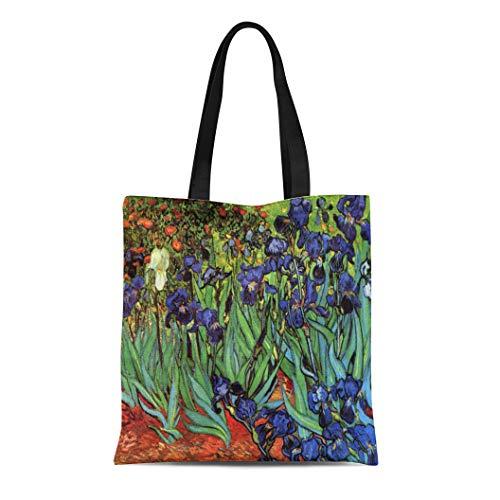Semtomn Cotton Line Canvas Tote Bag Nature Van Gogh Olive Trees Vintage Vincent Orchard Mountains Wiederverwendbar Handtasche Schultertasche Einkaufstasche Casual Multi 10 -