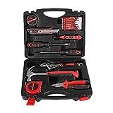 SINBROL 16 PC Multi Haushalts-Werkzeugkoffer Werkzeugset Werkzeugsatz Elektrowerkzeuge DIY Reparatur Werkzeuge Kits Set Inkl. Hammer Schraubendreher Schraubenschlüssel-Set für Garage Auto...