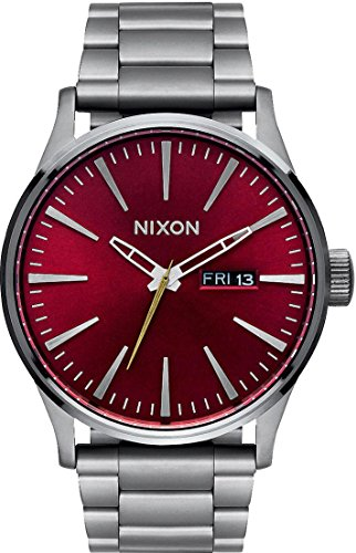 Nixon Mens Quartz Watch, Analogue Classic Display and Stainless Steel Strap A356-2073