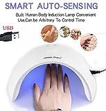 ZEZKT 27W USB LED UV Nail Gel Curing Lamp Light Licht-Lampe Gelnägel-Trockner mit Zeitmesser Sensor für Trocknung von Gelnägel und Zehennäge Berufsnagel-Kunst-Maschine für Fingernägel und Zehennägel