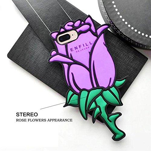 3D Mignon Panda Coque pour iPhone 7 Plus étui de Protection Housse,MingKun iPhone 7 Plus 5.5 Pouces Case Cover TPU Silicone Coque Haute qualitie Silicone Confortable Doux au Animé Animal Style Couvert Purple