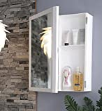#5: BRANCO Flora Bathroom Mirror Cabinet - White ( Made In India ) - BRC-740