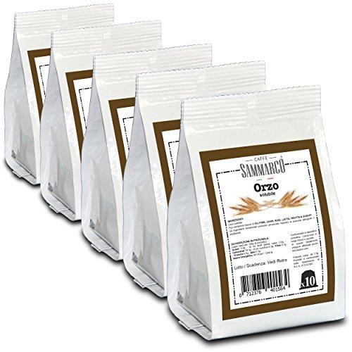 Caffè sammarco 50 capsule orzo compatibili con macchina da caffé nespresso®