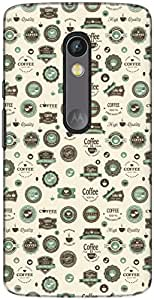 The Racoon Lean printed designer hard back mobile phone case cover for Motorola Moto X Play. (Coffee Til)