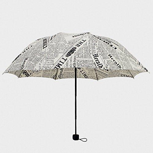 Sasan British Style retro Zeitung Dach falten dual-purpose drei Männer und Frauen der Schüler Persönlichkeit Zeitung Regenschirm Regenschirm Wind, 9 bis Großhandel eingestellt
