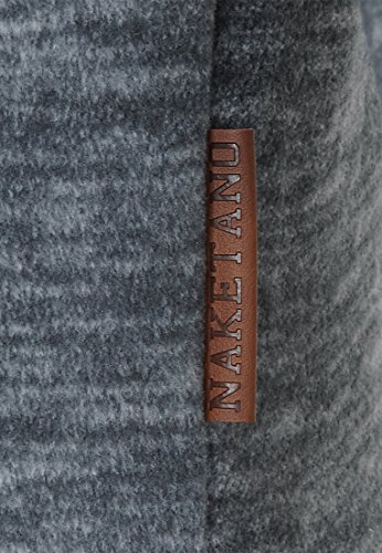 Naketano Male Zipped Jacket Schnitzelpopizel III Dark Ash Melange
