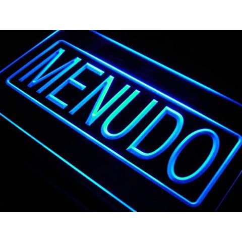 Cartel Luminoso ADV PRO i424-b Menudo Mexican Soup Food Cafe Neon Light Sign