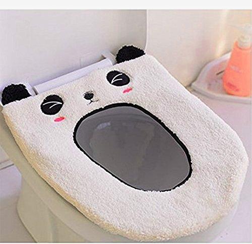 Soekavia coprisedili igienici, bagno caldo morbido lavabile sedile del water cuscino weiß panda