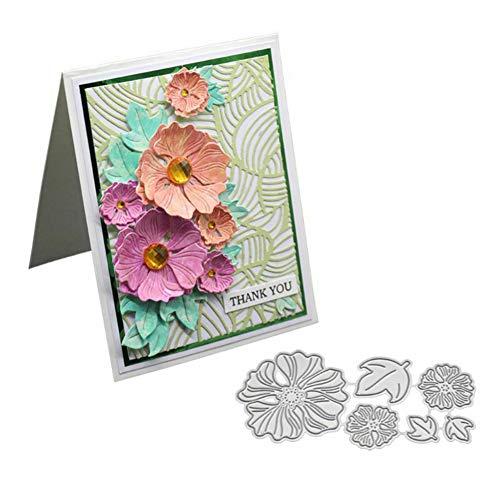Gemini_mall Stanzformen für Kartenherstellung, 3D-Blumen-Metall-Stanzformen, DIY Scrapbooking, Papier, Karten, Fotoalbum, Dekoration, Basteln, Prägung, Schablone, Geschenke silber