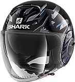 Shark Casque moto NANO KANHJI KBX, Noir/Bleu, L