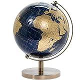 Leonardo Globe terrestre Vintage Rotatif Bleu doré 18 cm