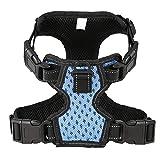 Arnés Ajustable para mascotas de perro Chaleco Cómodo para mascotas Chaleco para perro Suministros Control fácil-Azul (M)