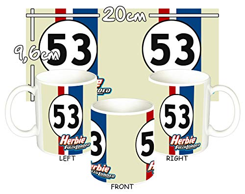 MasTazas Herbie A Tope Herbie Fully Loaded Tasse Mug
