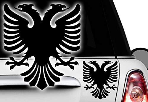 HR-WERBEDESIGN 3X Albania Aufkleber Sticker Shqipëria Albanien Kosovo Bosnien Mazedonienv XXX