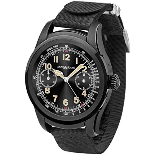 MontBlanc Summit Smartwatch ACCIAIO Nero cinturino caucciu 117537