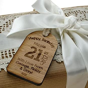 21st Birthday Gift For Her Bottle Tag Personalised