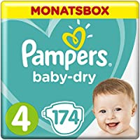 Pampers Baby Dry Gr.4 Maxi 8-16kg MonatsBox
