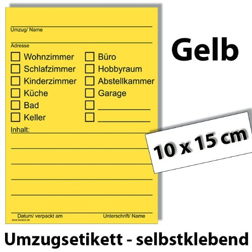 173x Umzugetiketten – Mix Set – Beschriftung mit Etiketten vom Umzugskarton bis Möbel für den Überblick beim Umzug - 3