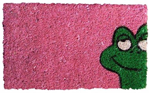 orientbazar24 Kokos Fußmatte Kinder Coco Family Frosch dunkel pink 37x22cm
