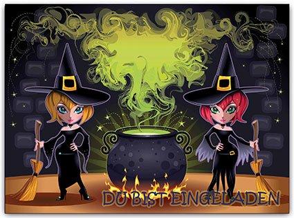 e Erwachsene Kindergeburtstag Halloween Halloweenparty Hexe (8 Stück) (Kinder-halloween-kochen)