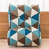 MON5F HOME Mode Kissen Dreieck Sofa Knopfleiste abnehmbare Nacht große Rückenlehne (Größe: 45 * 55 cm) (Color : 4, Size : 55X60cm)