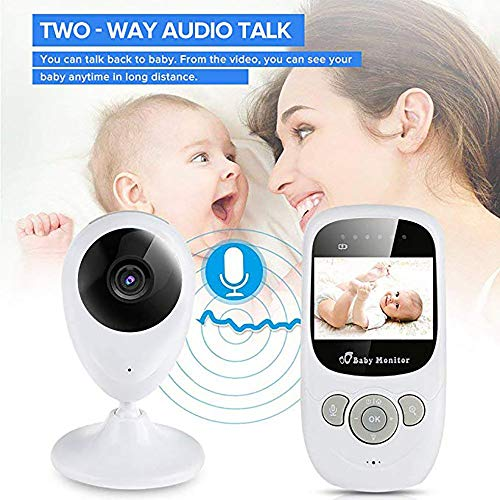 "Digital Wireless Baby Monitor, with 4"" LCD Display Two-Way Audio Night Vision Temperature Sensor Lullabies  Mettime"