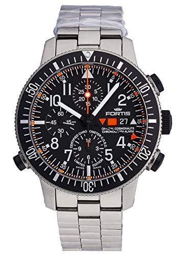 Fortis Herren-Armbanduhr B-42 Official Cosmonauts Chronograph Alarm - Limited Edition - COSC - Titanium Analog Automatik 660.27.11 M