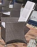 Gartenstuhl Carlos mit Polster Farbe: Braun