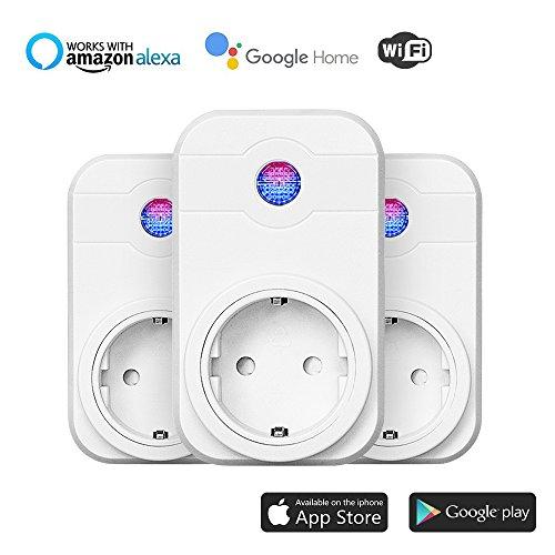 3Pack WiFi enchufe, Smart Inteligente WiFi...