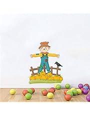 Rawpockets 'Pumpkin Scarecrow' Wall Sticker (PVC Vinyl, 0.99 cm x 55 cm x 65 cm)