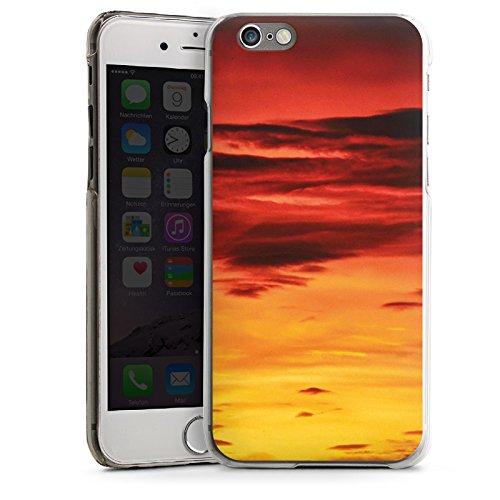 Apple iPhone 5s Housse Étui Protection Coque Soleil couchant Nuages Coucher de soleil CasDur transparent