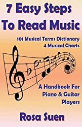 7 Easy Steps To Read Music - A Handbook for Piano & Guitar Players (Learn How To Read Music) (Volume 1) by Rosa Suen (2014-09-02)