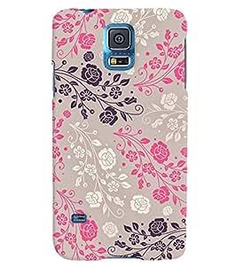 Citydreamz Floral Print Hard Polycarbonate Designer Back Case Cover For Samsung Galaxy S5
