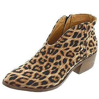 3d4f7f21c8aadd Sandalen Damen mit Absatz Leder 4 cm Blockabsatz Wildleder Geschlossene  Schuhe Reissverschluss Sommer Frühling Leopard 37